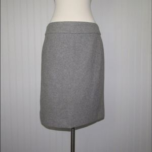 J. Crew Factory Gray Wool Pencil Skirt